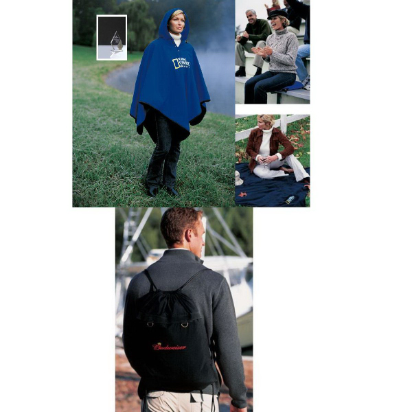 Personalized 4-in-1 (TM) Blanket/Poncho/Seat Cushion/Backpack