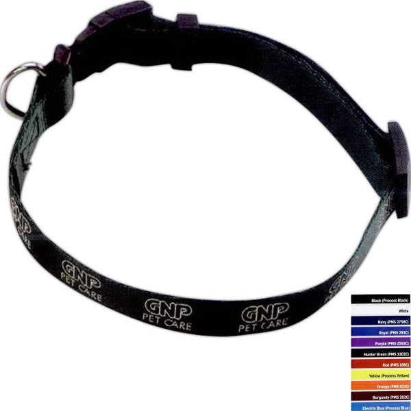 "Custom 3/4"" Nylon Pet Collar"