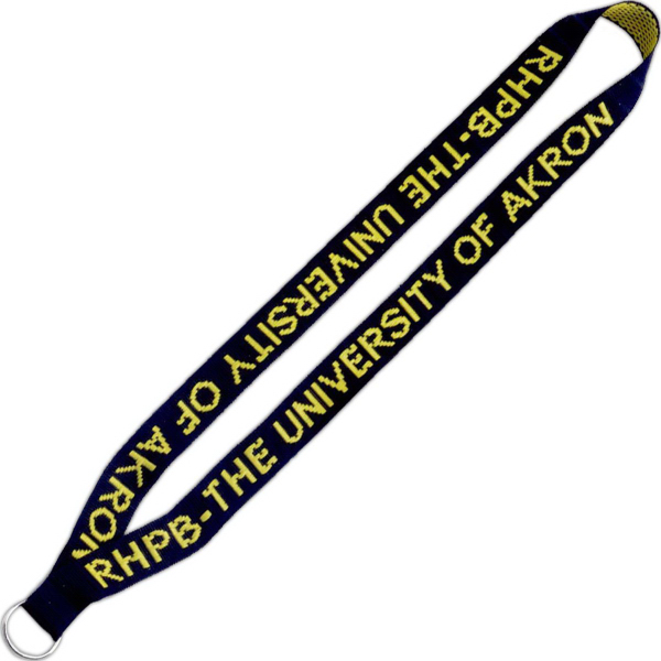 "Imprinted 3/4"" Imported Polyester Woven Through Lanyard"