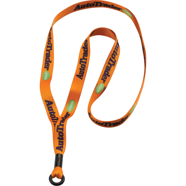 "Printed 1/2"" Dye-Sublimated Lanyard w/Metal Split Ring"