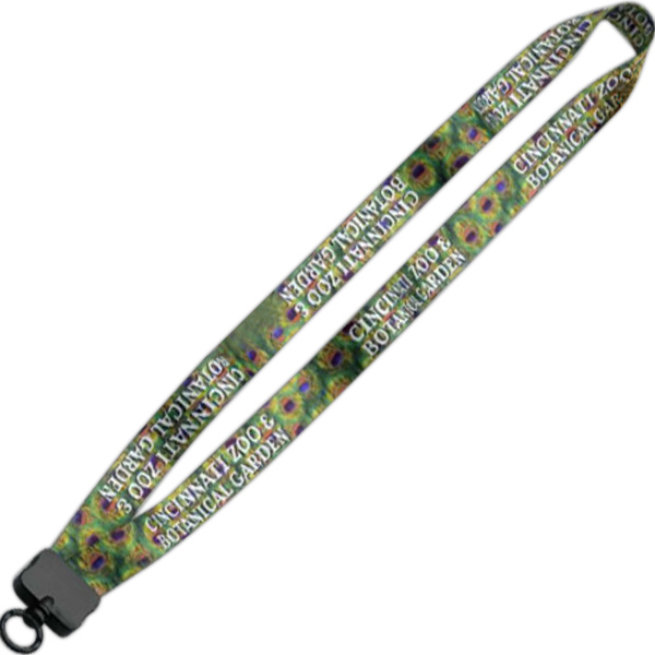 "Imprinted 3/4"" Lanyard w/Plastic Clamshell & O-Ring"