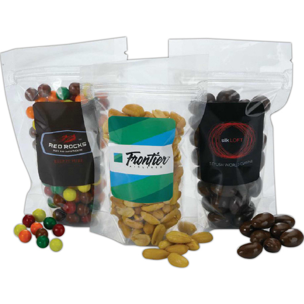 Imprinted Stand-Up Resealable Pouch with Nut Fill
