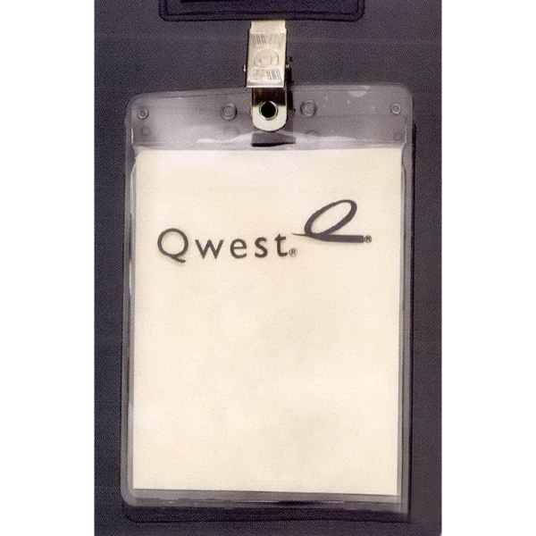 Promotional Vertical Vinyl Pouch with Bulldog Clip