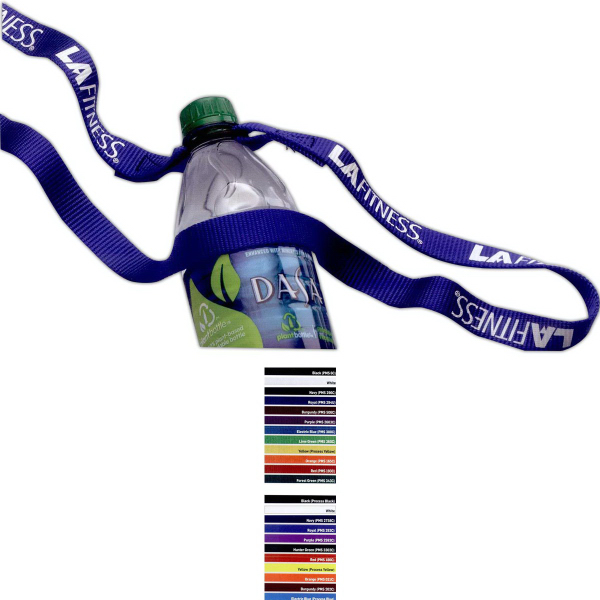 Personalized Nylon Water Bottle Strap
