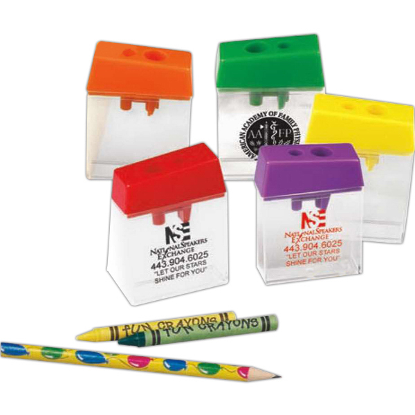 Personalized Dual Crayon and Pencil Sharpener (Blank)