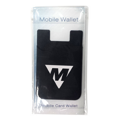 Customized Silicone smartphone wallet with stock info card