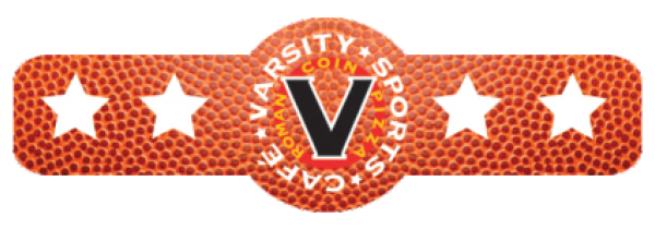 Promotional Varsity Sports Logo w/ Star Shaped Beverage Wrap