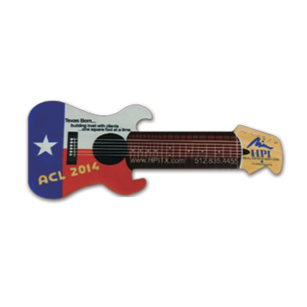 Promotional Full Guitar Shaped Beverage Wrap
