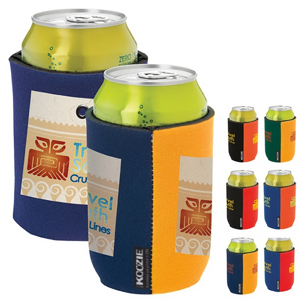 Imprinted Dual Color KOOZIE® Can Kooler