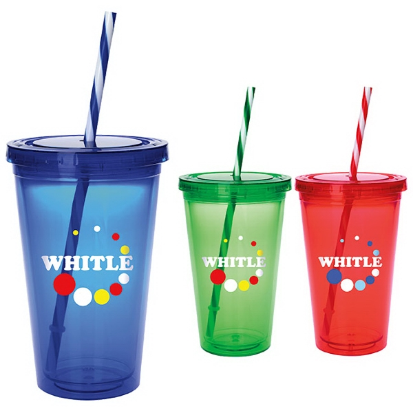 Custom Colored Candy Cane Tumbler - 18 oz