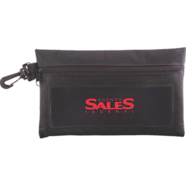 Imprinted View-All Utility Pouch With Clip