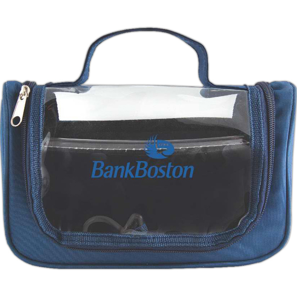 Personalized Clear View Hanging Toiletry Bag