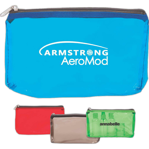 Printed Multi Purpose Clear Pouch