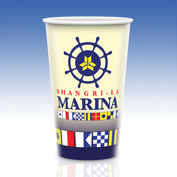 Custom Visstun® 24oz Reusable White Plastic Cup-Full Color