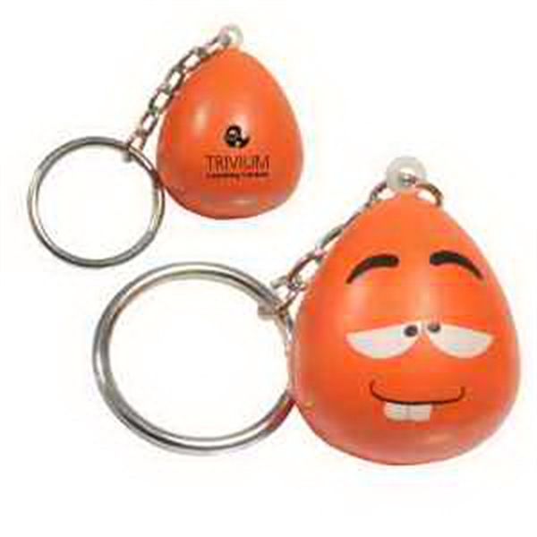 Imprinted Mood Maniac- Wacky Key Chain Stress Reliever