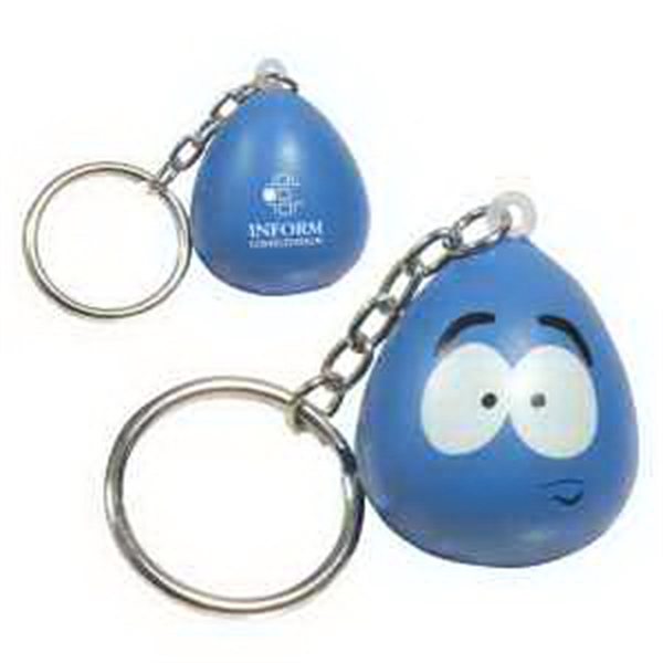 Imprinted Mood Maniac- Stressed Key Chain Stress Reliever