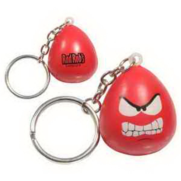 Imprinted Mood Maniac- Angry Key Chain Stress Reliever