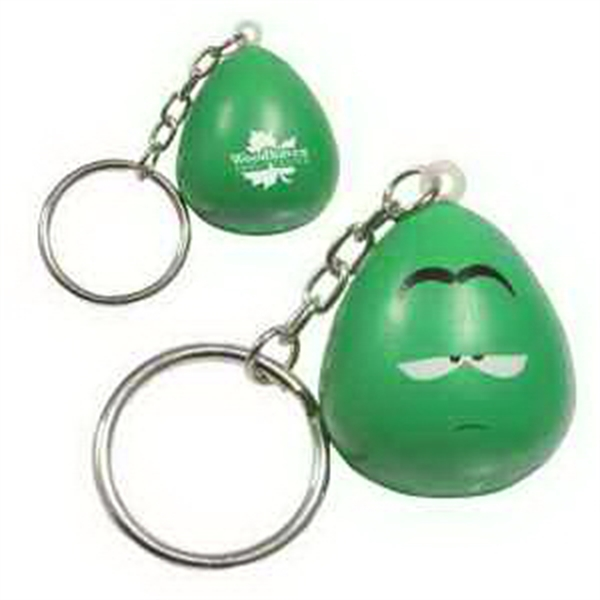 Printed Mood Maniac- Apathetic Key Chain Stress Reliever