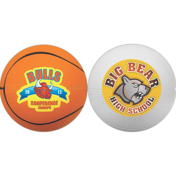"Imprinted 4"" Foam Basketball (Full color Process)"