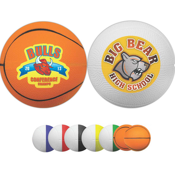 "Promotional 4"" Two-Toned Foam Basketball (Full color Process)"
