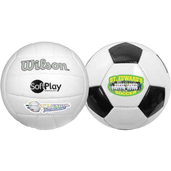 Custom Full Size Synthetic Leather Soccer Ball (Full color)