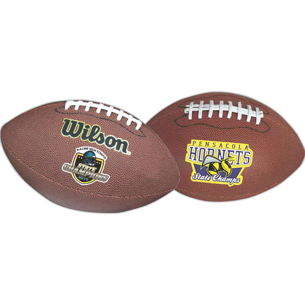 Promotional Full Size Synthetic Leather Football (Full Color Process)
