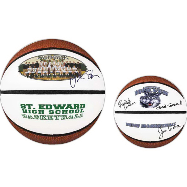 Customized Mini Signature Basketball (Full color process)