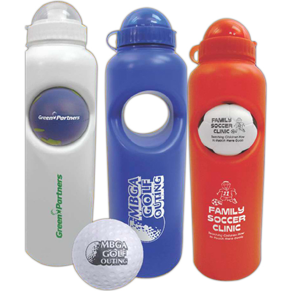 Promotional Camo Stress Ball Water Bottle Set