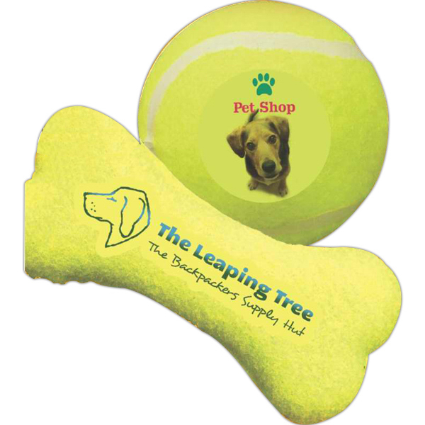 Printed Bone Shaped Toy Tennis Ball
