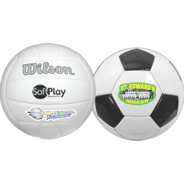 Printed Wilson (R) Premium Synthetic Leather Soccer Ball