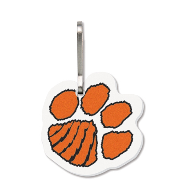 Personalized Bag & Luggage Tag(Zipper Pull) - Large Paw Print- Full Color