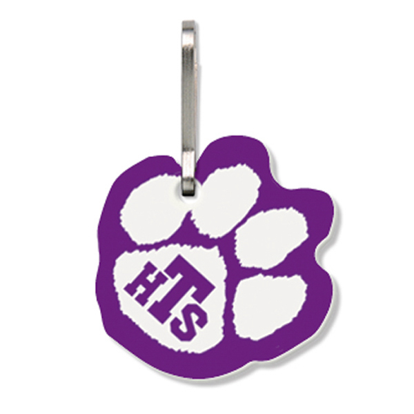 Promotional Bag Tag (Zipper Pull) - Large Paw Print - Spot Color