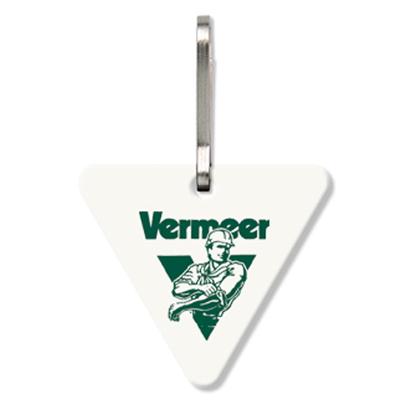 Promotional Bag Tag (Zipper Pull) - Large Triangle - Spot Color