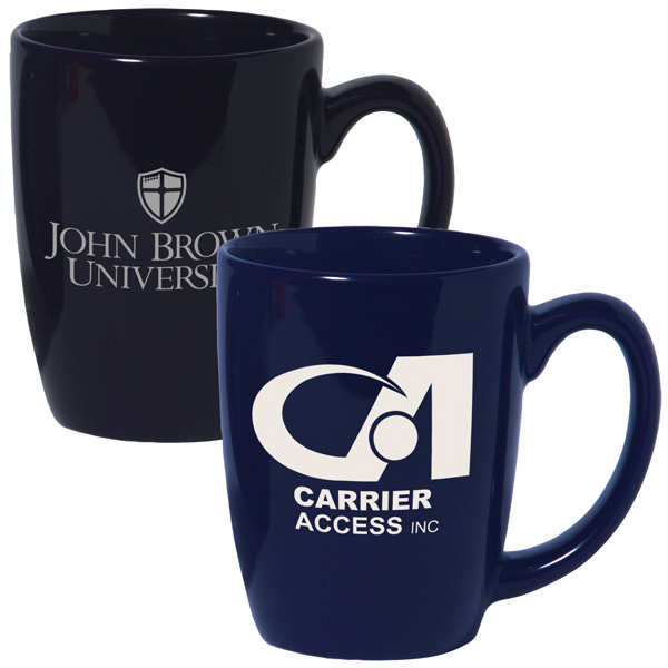 Promotional 12 oz. Ceramic Challenger Coffee Mug; Colors