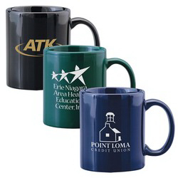 Custom 11 oz. Ceramic Coffee Mug; Colors - Mega Special
