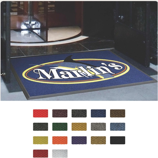 Personalized Berber (TM) Logo High Traffic, Indoor and Outdoor Mat