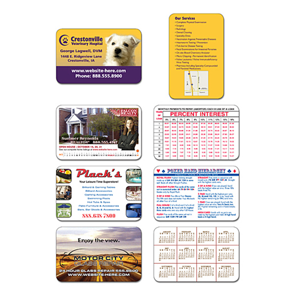 "Printed Laminated Wallet Card - 3.5"" x 2.25"" (2-Sided) - 14 pt"