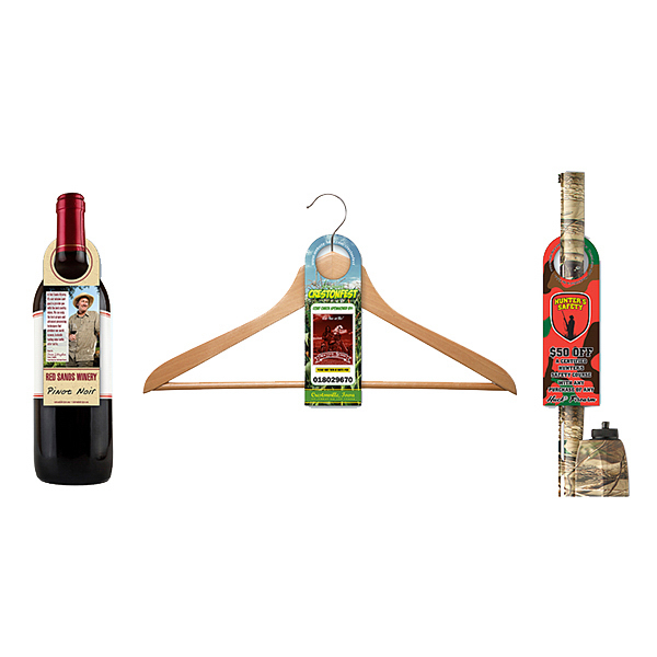 Personalized Bottle Hanger - Laminated - 2.5 x 7.625 (Round Top)