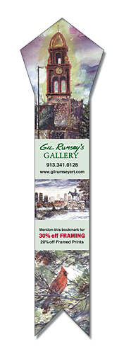 Custom Bookmark - 2.25x8.5 Laminated Pentagon Shape