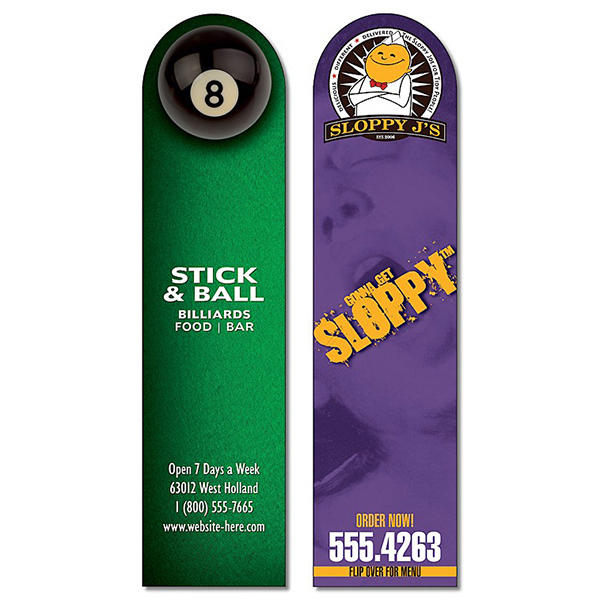 Customized Bookmark - 1.75x7 Laminated with Round Tip - 14 pt