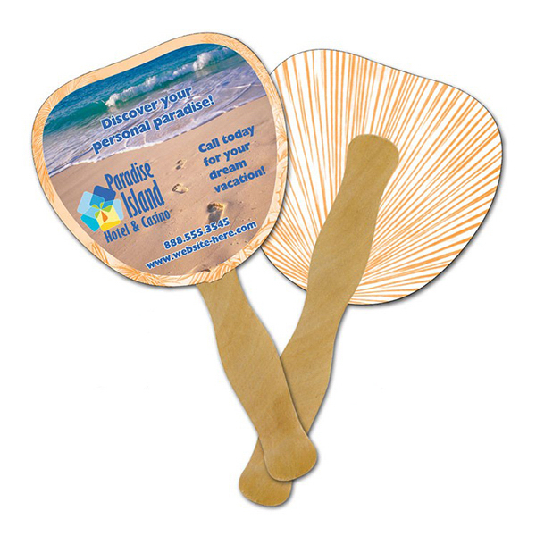 Customized Mini Hand Fan - 5.25 x 5.5 Palm/Leaf Shaped