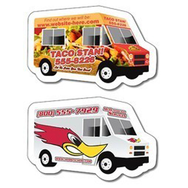 Promotional Magnet - Food Truck / delivery truck shape