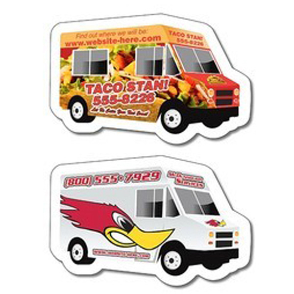 Promotional Magnet - Food Truck / delivery truck shape, 25 mil