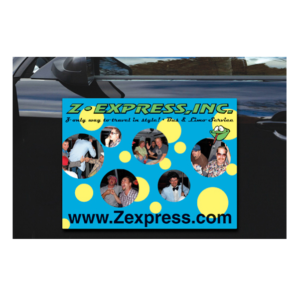 "Promotional Magnetic Vehicle Sign - 24"" x 18"" Round Corners"