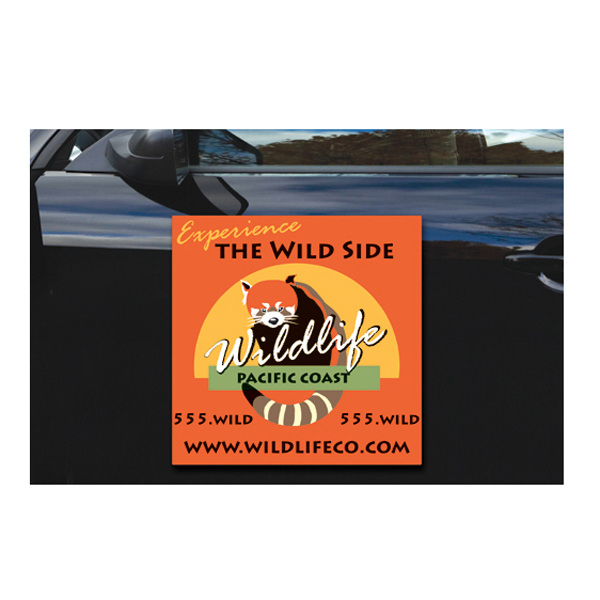 "Personalized Magnetic Vehicle Sign - 24"" x 24"" - Round Corners"