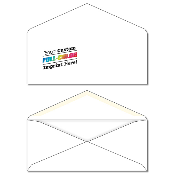 "Customized Envelope - #10 Printed White 9.5"" x 4.125"""