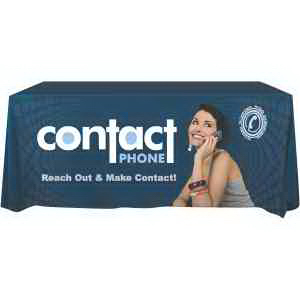 Imprinted Digital Dye-Sub Front Panel Imprint Table Covers-RUSH