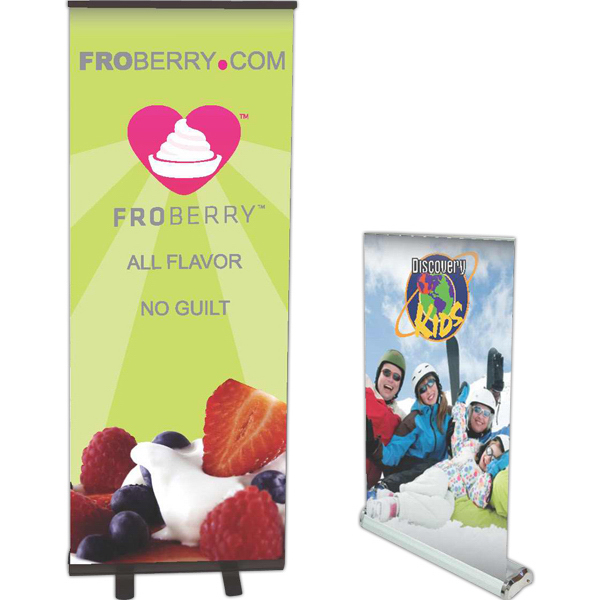 Imprinted Standard Retractor Stand with Banner--Rush