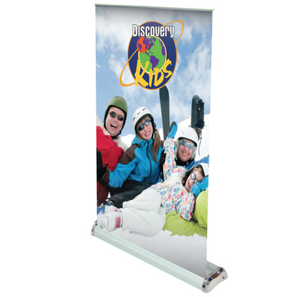Customized Economy Retractor Table Top Stand with Banner--Rush