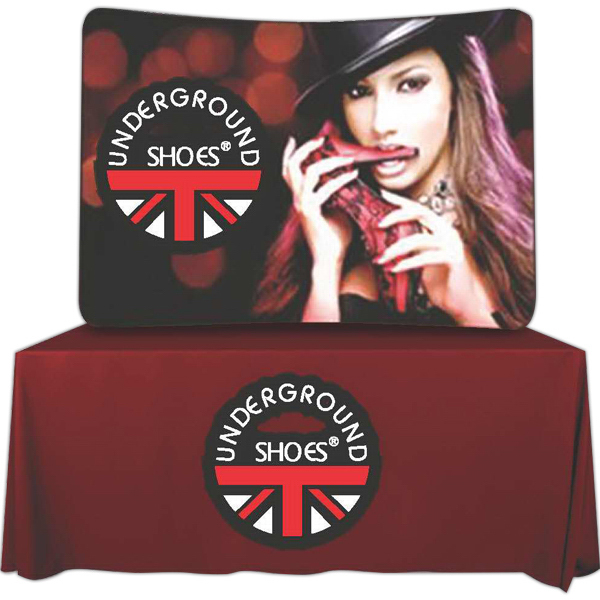 Printed Curved Table Tube Frame with Banner--Rush